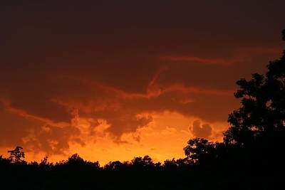 Photograph - Fiery Sunset by Kathryn Meyer