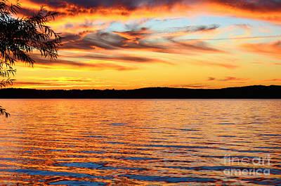Photograph - Fiery Sunset by Kelly Nowak