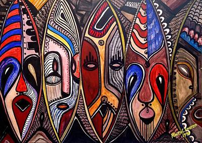 Immaterial Painting - Figment Of My Imaginations by Mbonu Emerem