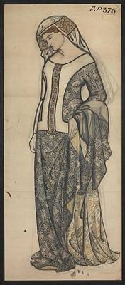 Guinevere Painting - Figure Of Guinevere by William Morris
