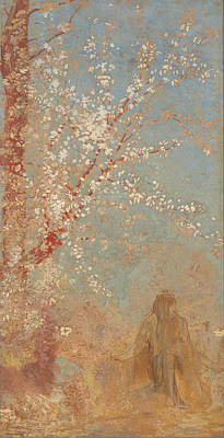 Painting - Figure Under A Blossoming Tree by Odilon Redon