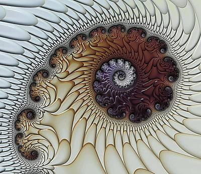 Framed Art Digital Art - Filigree by Amanda Moore