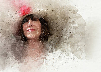 Digital Art - Fille Au Chapeau by Peggy Cooper