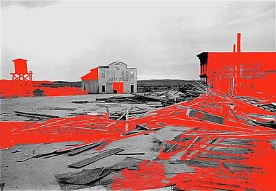 Film Homage High Plain Drifter 1973 Monte Walsh Set Windstorm Mescal Arizona 1969-2012 Art Print by David Lee Guss