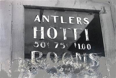 Vintage Pharmacy Royalty Free Images - Film noir Ray Teal Anthony Caruso Scene of the Crime 1949 Antlers Hotel Victor Colorado 1971-2013 Royalty-Free Image by David Lee Guss