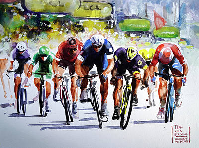 Final Effort Stage 4 Art Print by Shirley Peters