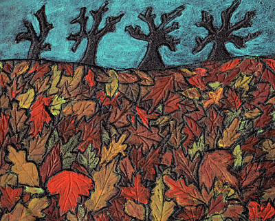 Finding Autumn Leaves Art Print by Wayne Potrafka