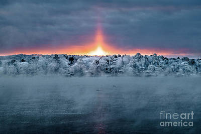 Edgecomb Photograph - Fire And Ice by Benjamin Williamson
