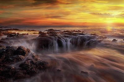 Fire And Water Art Print by David Gn