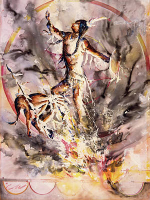 Painting - Fire Dance Large by Connie Williams