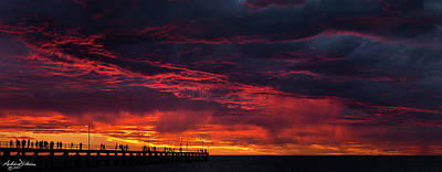 Photograph - Fire In The Sky by Andrew Dickman