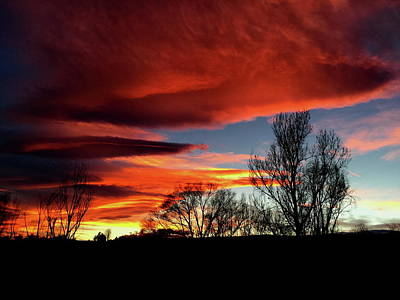 Photograph - Fire In The Sky by Trent Mallett