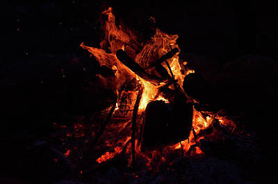 Photograph - Fire by John Black