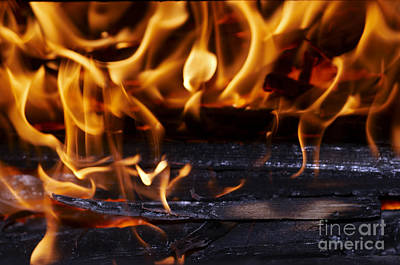Grate Photograph - Fire by Michal Boubin