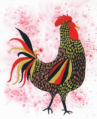 Painting - Fire Rooster by Darice Machel McGuire
