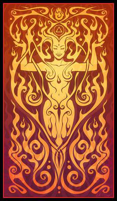 Fire Spirit Print by Cristina McAllister