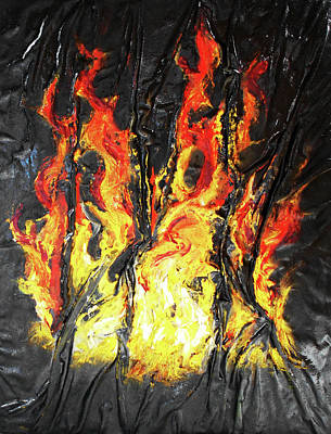 Mixed Media - Fire Too by Angela Stout