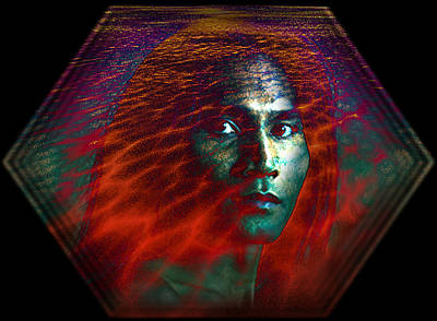 Print featuring the digital art Fire Within by Shadowlea Is