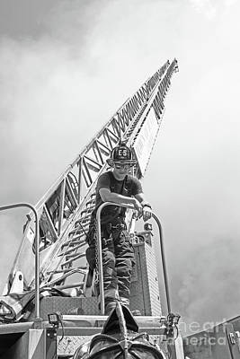 Photograph - Firefighters Discussion by Lloyd Alexander