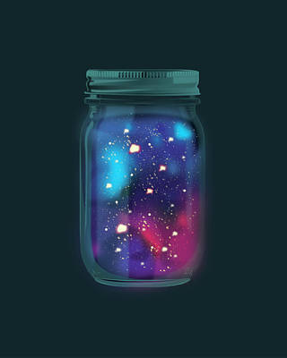 Firefly Galaxy Art Print by Katie Swick