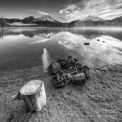Bend Oregon Photograph - Firepit In Black And White by Twenty Two North Photography