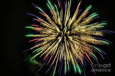 Photograph - Fireworks 1401 by Doug Berry