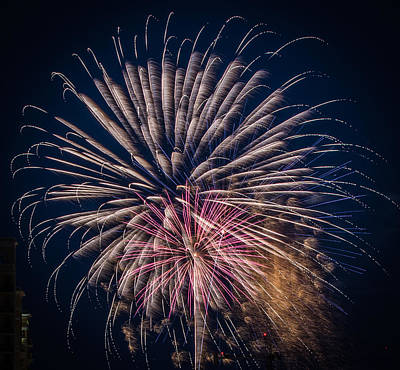 Photograph - Fireworks 2015 Sarasota 36 by Richard Goldman