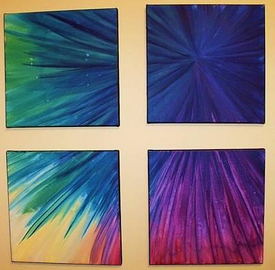 Painting - Fireworks by Anna Villarreal Garbis