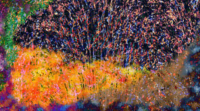 Impression Painting - Fireworks by Christopher Gaston
