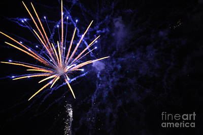 Fireworks Art Print by Diane Falk