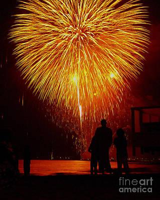 Fireworks Art Print by Marc Bittan