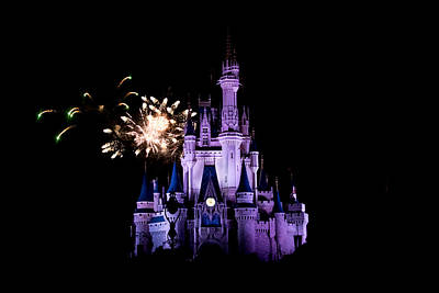Photograph - Fireworks Over Cinderella Castle by Sara Frank