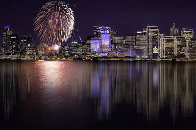 Photograph - Fireworks Over San Francisco by PhotoWorks By Don Hoekwater