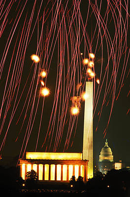 Keith Richards - Fireworks Over Washington by Carl Purcell