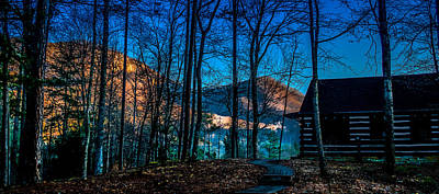 Caesars Head State Park Photograph - First Light At Table Rock Mountain by Optical Playground By MP Ray