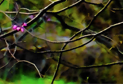 Abstract Expressionist Digital Art - First Sign Of Spring by Gerlinde Keating - Galleria GK Keating Associates Inc