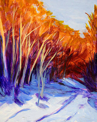 Painting - First Snow by Nancy Merkle