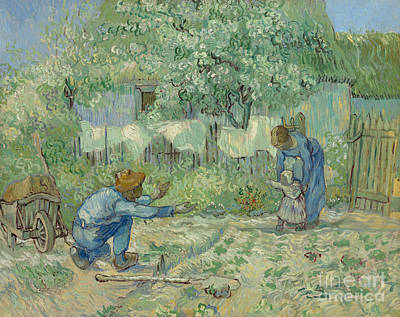 Painting - First Steps, After Millet, 1890 by Vincent Van Gogh