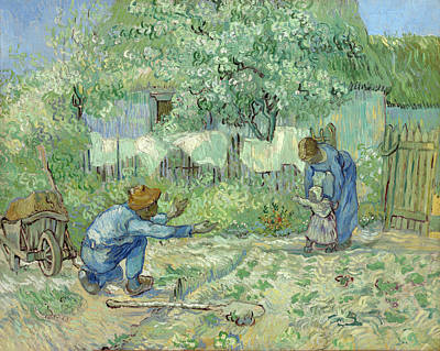 Painting - First Steps by Vincent van Gogh