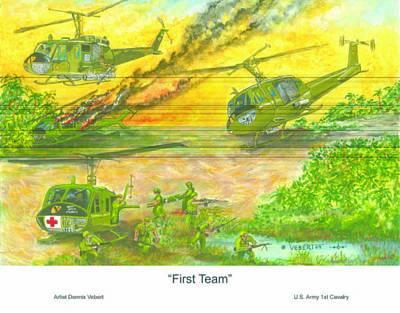 First Team Art Print by Dennis Vebert