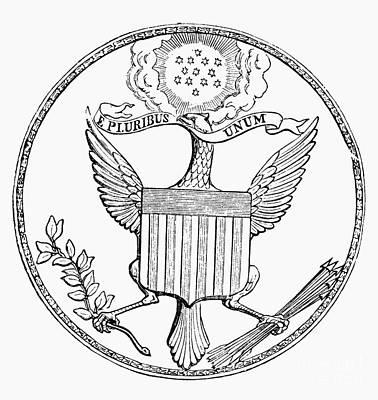 First U.s. Seal, 1782 Art Print by Granger