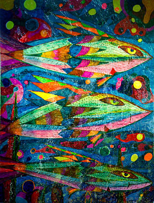 Painting - Fish - Abstract Fish by Marie Jamieson
