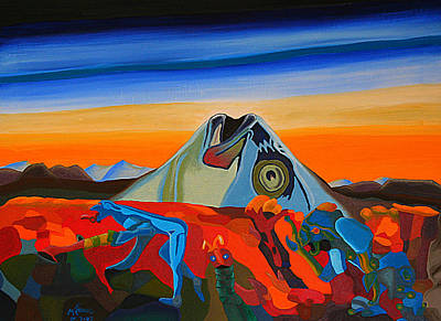 Fish Head Hill Art Print by Michael C Crane