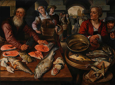 Painting - Fish Market by Joachim Beuckelaer