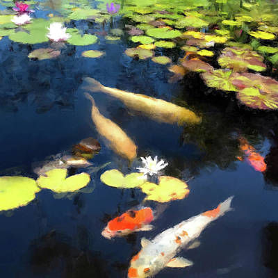 Digital Art - Fish Pond by Gary Grayson