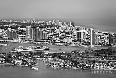 Clouds Rights Managed Images - Fisher Island and Miami Beach Royalty-Free Image by Patrick M Lynch
