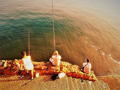 Photograph - Fishermen In Beirut  by Funkpix Photo Hunter