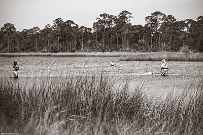 Photograph - Fishermen Wading by Debra Forand
