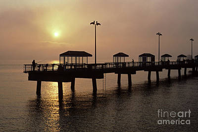 Photograph - Fishing Along Elliot Bay  by Jim Corwin