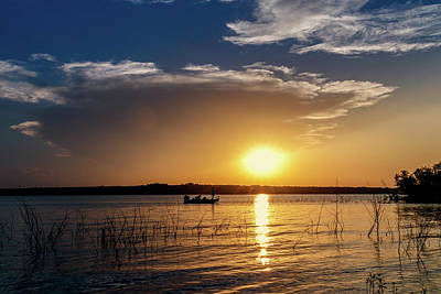 Photograph - Fishing At Sunset by Doug Long